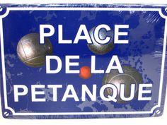 petanque plaque