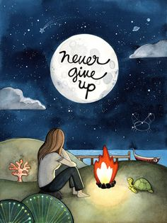 Motivational art, Never give up - Positive and inspirational quote art print for encouragement Art Prints Quotes, Art Quotes, Inspirational Quotes, Quote Art, Motivational Sayings, Exam Quotes, Motivational Wallpaper, Wisdom Quotes, Bien Dit