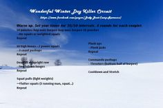 Winter home workout made for me for Body Boot Camp - Ravenna