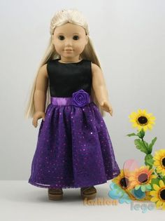1PCs Doll CLothes Outfit Princess Dress for 18'' American girl new B/P