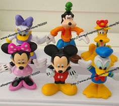 (set of 6)  MICKEY Mouse Minnie Mouse Donald Duck Cartoon figure Set  Childre's toy  Free shipping on AliExpress.com. $15.68
