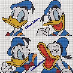 Lidiane Silveira Ponto Cruz: Pato Donald em Ponto cruz!!