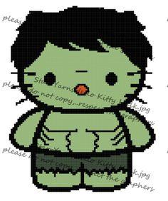 Kitty in Custome Crochet Graph Pattern | Turtles, Teenage ...