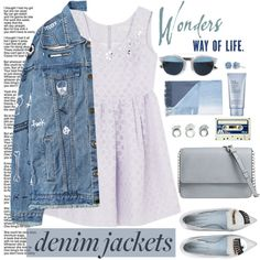 How To Wear THE DENIM JACKETS LOVE Outfit Idea 2017 - Fashion Trends Ready To Wear For Plus Size, Curvy Women Over 20, 30, 40, 50