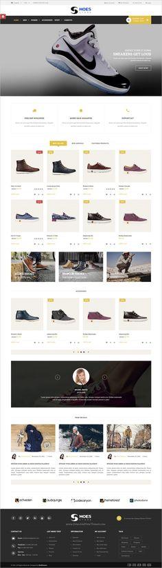 Website Design Layout, Website Design Inspiration, Online Shoe Websites, Online Shopping Shoes, Shoes Online, Best Website Templates, Sports Shops, Ux Design, Design Ideas