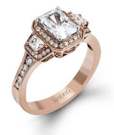 Alluring Simon G. Engagement Ring @ Kranich's Jewelers.
