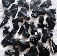 black shoes ankle boots chunky sole drmartens cut out shoes grunge shoes grunge accessory black boots shoes mid heel boots black Sock Shoes, Cute Shoes, Me Too Shoes, Shoe Boots, Ankle Boots, Shoes Heels, Gucci Shoes, Louboutin Shoes, Shoes Sneakers