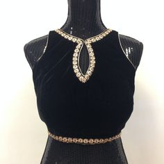Stylish Velvet Blouse-Black