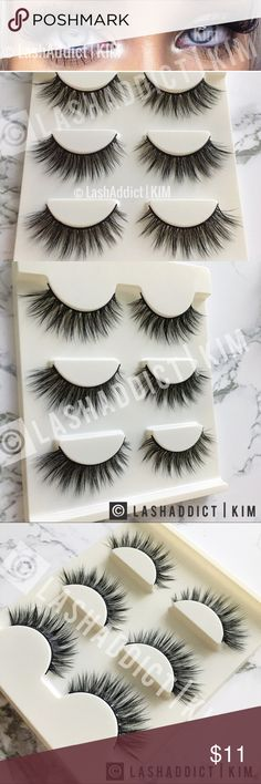 Flutterly lilly mink lashes eyelashes new makeup 3 pairs brand new / delivered in tray as shown Makeup False Eyelashes