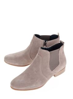 Sivé členkové semišové chelsea topánky Tamaris