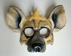 Leather Hyena Mask by GriffinForge on Etsy Lion King Play, Lion King Jr, Striped Hyena, Character Inspiration, Character Design, Le Roi Lion, Leather Mask, Animal Masks, Animal Costumes