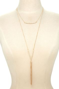 Forever 21 | Gold Tasseled Layered Chain