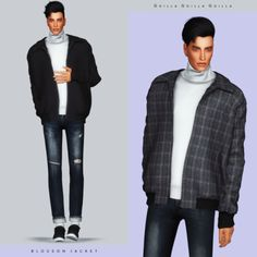 Blouson Jacket for The Sims 4