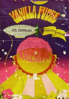 Led Zeppelin at The Terrace Ballroom, Salt Lake City, Utah - July 1969 Led Zeppelin Poster, Led Zeppelin Concert, Festival Posters, Concert Posters, Hippie Posters, Local Bands, Expressive Art, Concert Photography, Graphic Design Posters