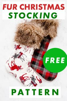 Sew a Faux Fur Cuff Christmas Stocking with this FREE Christmas Stocking Sewing Pattern. The Christmas Stocking Pattern comes with two options. Make either a basic Flannel DIY Christmas Stocking or make a fun version with a toe and heel patch for a bit of whimsey. Add the fur for a traditional Christmas decor look. Get the pattern now! Diy Christmas Stocking Pattern, Christmas Sewing Patterns, Quilted Christmas Stockings, Christmas Sewing Projects, Traditional Christmas Stockings, Diy Stockings, Christmas Decor, Christmas Ideas, Christmas Things