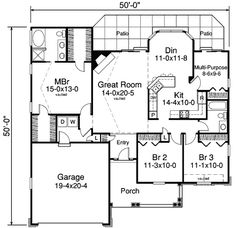 Elegance With Efficiency - 57132HA | 1st Floor Master Suite, Den-Office-Library-Study, Narrow Lot, PDF, Ranch, Split Bedrooms | Architectural Designs
