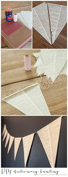 DIY: dictionary bunting