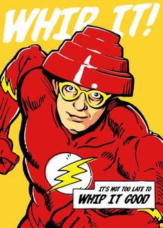 Post-Punk Super Friends (Flash) Art Print