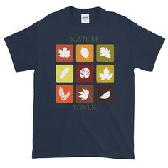 Nature Lover's Short-Sleeve T-Shirt. This t-shirt makes for a great staple! Gifts For Nature Lovers, Custom T, Graphic Shirts, Fabric Weights, Mens Tops, T Shirt, Tee, Tee Shirt
