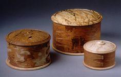 Scandinavian style birch bark boxes