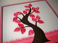 Do All Sorts of Fun with Paper Quilling and Quilling Art Trees? Art Quilling, Origami And Quilling, Quilling Ideas, Paper Art, Paper Crafts, Pink Trees, Creative Art, Quilts, Cards