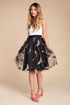 e54c3e5c762 Proud Peacock Embroidered Skirt (Black). Nanamacs Boutique ...