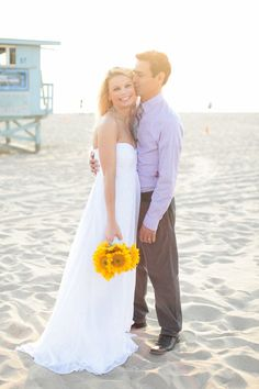 California beach wedding Stella and Omar Hermosa Beach Wedding Photos by www.theweddinggirls.com
