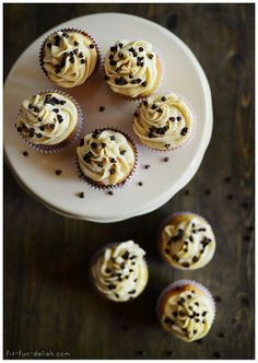 French Vanilla Cupcakes with Cookie Dough Frosting
