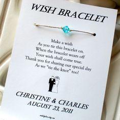 Classic Bride and Groom - A Wedding Wish - Wish Bracelet Wedding Favor Custom Made for You