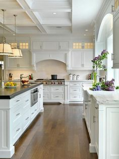 White Cabinets With Brushed Satin Nickel Finishes Low