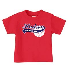Personalized Baseball Birthday T Shirt Boy