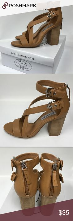 STEVE MADDEN NIB brown sandals Steve Madden sandals size 8. Never been worn. Zipper up the back and buckles on the side. Didn't try them on before I bought them and can't return. Steve Madden Shoes Sandals