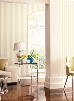Ashford Striped Wallpaper Adds Fab To Your Walls http://decoratingheaven.com.au/ashford-striped-wallpaper/