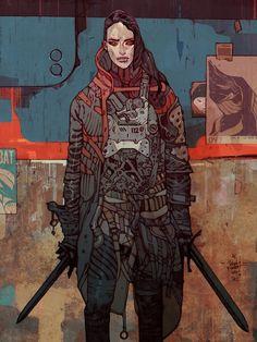 ASSASSIN - A gallery-quality illustration art print by Jakub Rebelka for sale.