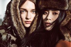 beauty editorial Daga Ziober & Ming Xi by Regan Cameron for Vogue China October 2015