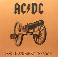 AC DC For Those About To Rock 1981 Vinyl LP Record Album Record: Very Good Plus (VG+) Sleeve: Very Good Plus (VG+)