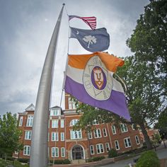 https://flic.kr/p/vpead5 | Flags at half staff | The American, South Carolina, and Clemson University flags fly at half mast in honor of the nine killed in the June 17 shooting that took place at Emanuel African Methodist Church in Charleston, S.C., June 30, 2015. (Photo by Ken Scar)