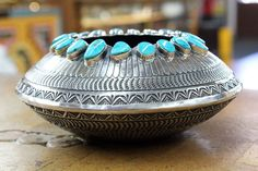 Beautiful Silver Bowl Art - Sunshine Reeves; photo from Perry Null Trading Co.