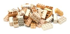 I love these Lego-like wooden blocks! There's something so satisfying when they click together!