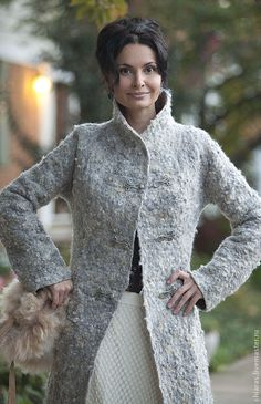 Pattern for seemless felted Coat Autumn Mist by IrenaLevkovich