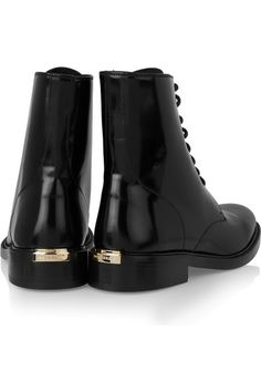 Burberry London Leather ankle boots NET-A-PORTER.COM
