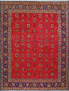 "Tabriz Persian Rug, Buy Handmade Tabriz Persian Rug 9' 8"" x 12' 10"", Authentic Persian Rug"