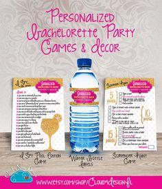 Personalized Bachelorette Games & Decor