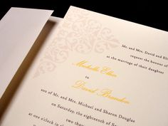 Elegant River Custom Color Wedding Invitation Spring Summer