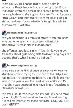 I mean to be fair Thor and Spider-Man spent a good portion of their movies half naked and peter di the stumbling and stripping bit but yes whedon pls stop Dc Memes, Intersectional Feminism, Joss Whedon, In A Nutshell, Patriarchy, Faith In Humanity, Social Issues, Oppression, Dc Universe