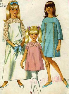 Vintage años 60 simplicidad 6996 corte niñas Pascua por RomasMaison