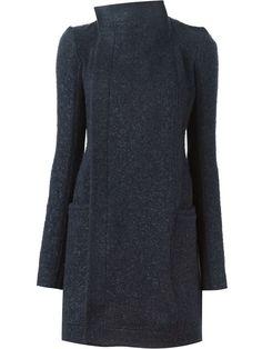draped collar coat