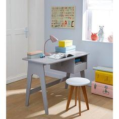 Bureau style rétro Adil. Lignes sobres et inspiration vintage années 60, ce bureau entre pile dans la tendance.