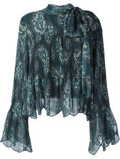 SEE BY CHLOÉ paisley print scalloped blouse. #seebychloé #cloth #blouse