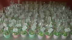120 vasitos de gominolas para el Bautizo de Mar!!